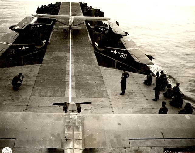 Piper taking off from lst 2